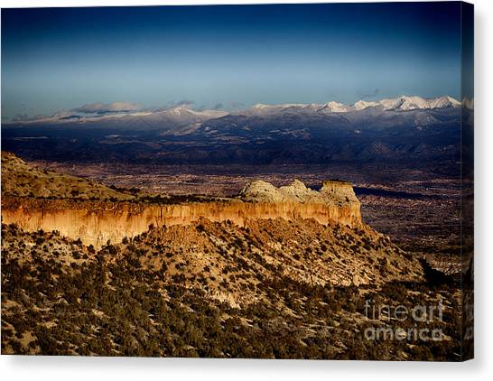 Mountains At Senator Clinton P. Anderson Scenic Route Overlook  Canvas Print