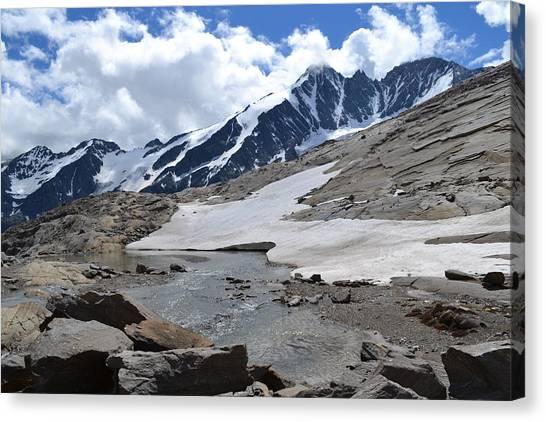 Pasterze Glacier Canvas Print - Mountains Austrian Alps Glacier Glacier Pasterze by Zdenka Otipkova