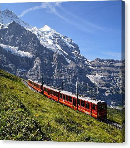 Trainspotting Canvas Print - #mountains #beautiful #inst_mazing by Mike Fletcher