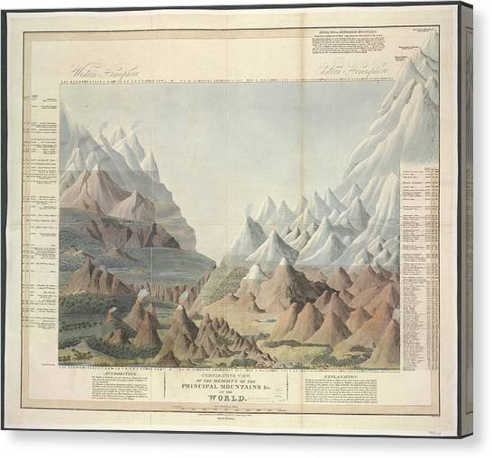 Principals Canvas Print - Mountains by British Library