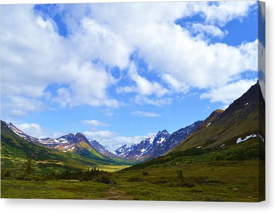 Mountains In Anchorage Alaska Canvas Print