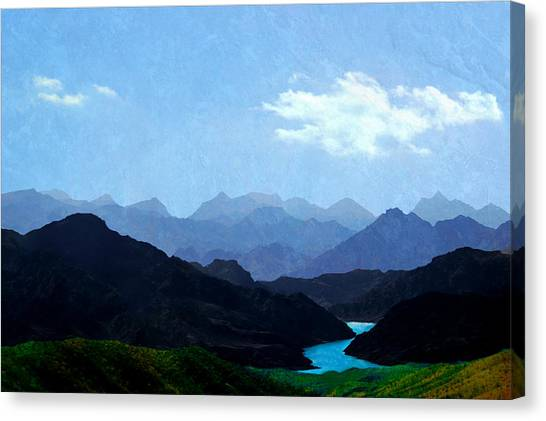 Mountains In Shadow Canvas Print