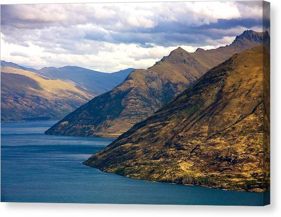 Mountains Meet Lake Canvas Print