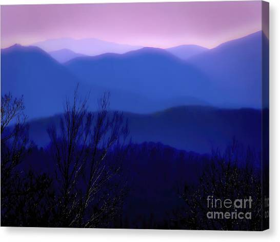 Mountains Of Blue Canvas Print