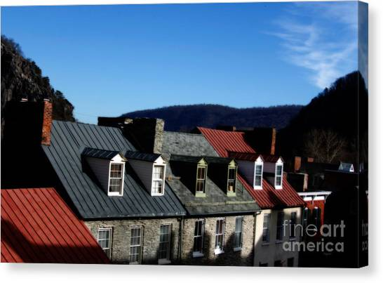 Mountains Of Rooftops  Canvas Print by Steven Digman
