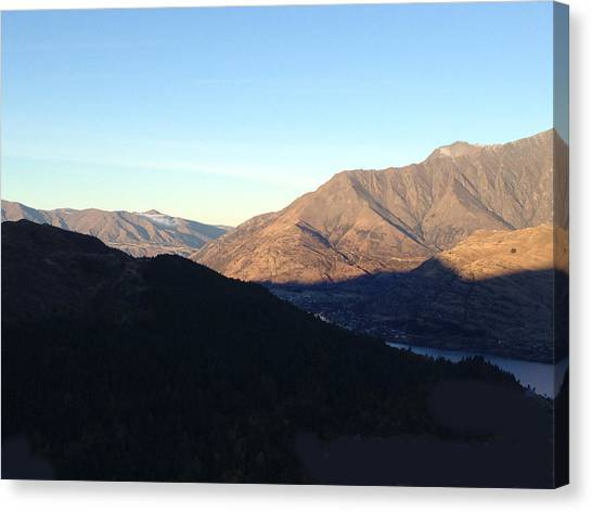 Mountains Canvas Print by Ron Torborg