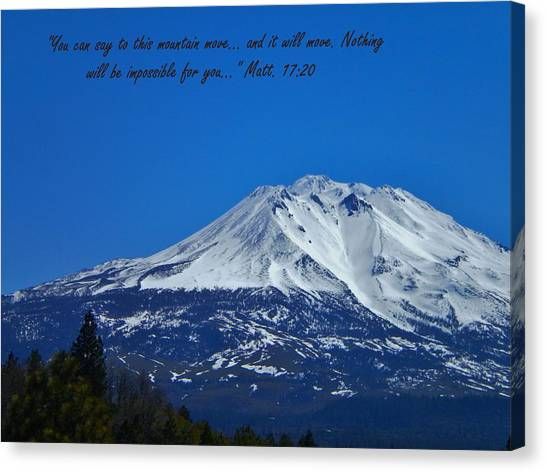 Mountains Shall Move... Canvas Print