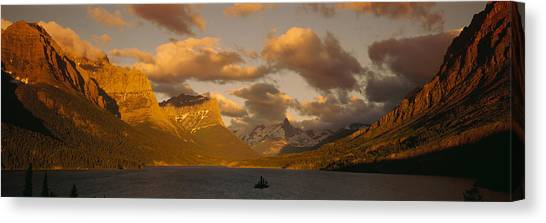 Glacier Bay Canvas Print - Mountains Surrounding A Lake, St. Mary by Panoramic Images