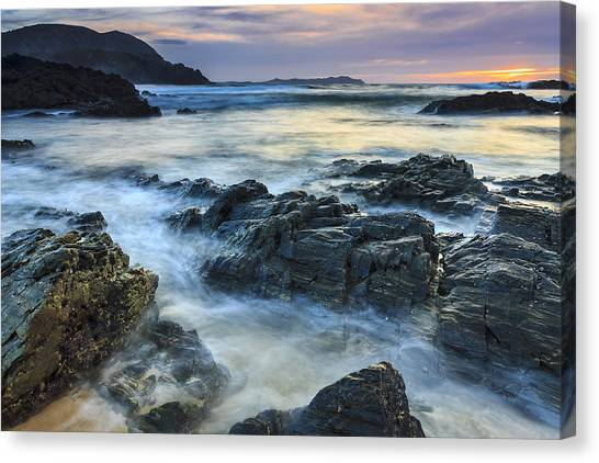 Mourillar Beach Galicia Spain Canvas Print