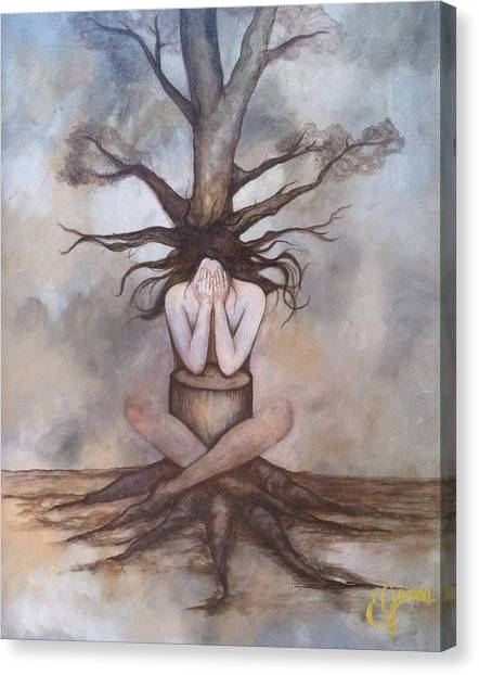 Mourning Nature Canvas Print by Estela Gama