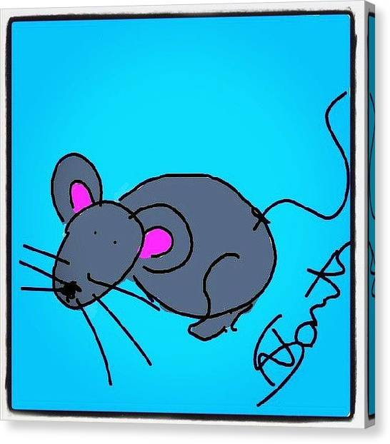Mice Canvas Print - #mouseds Made By My Wife. #cartoon by Nuno Marques
