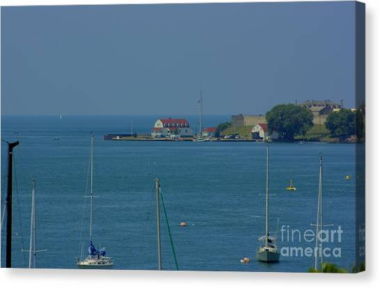 Mouth Of The Niagara River Canvas Print