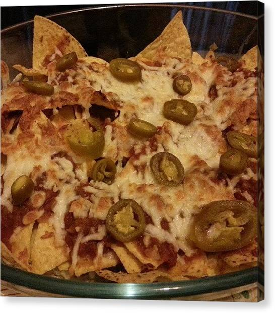 Salsa Canvas Print - Movie Night #nachos #food #instafood by Bob Sheehan
