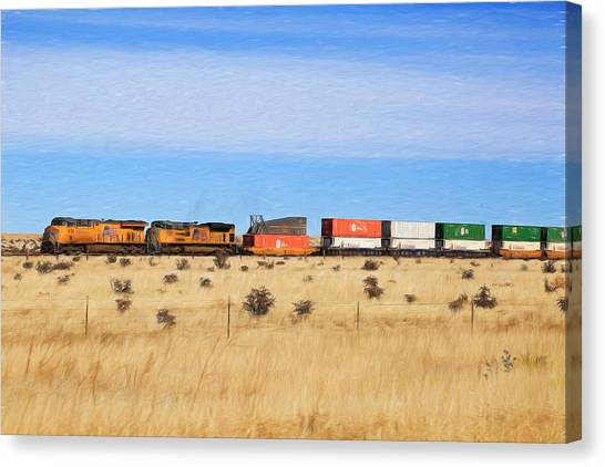 Moving America Across The Heartland Canvas Print