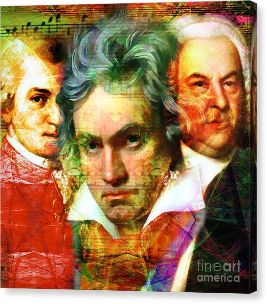 Harpsichords Canvas Print - Mozart Beethoven Bach 20140128 Square by Wingsdomain Art and Photography