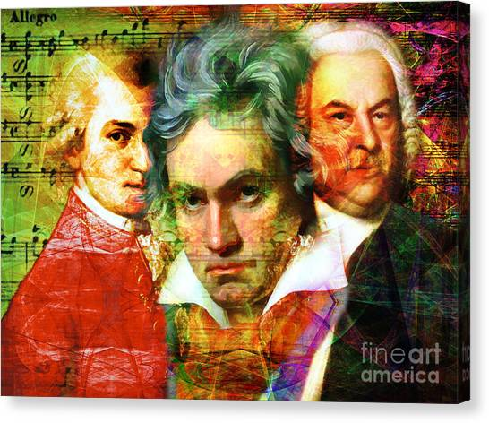 Harpsichords Canvas Print - Mozart Beethoven Bach 20140128 by Wingsdomain Art and Photography