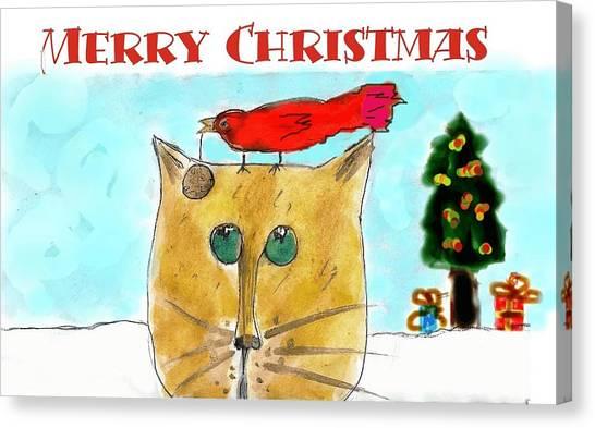 Mprints - Christmas Cheer 1 Canvas Print