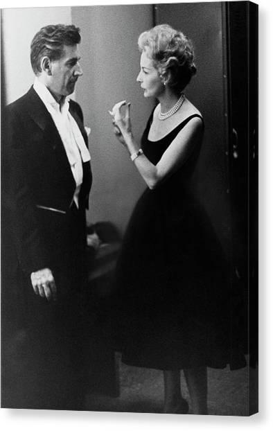 Mr. And Mrs. Leonard Bernstein Canvas Print by Henry Clarke