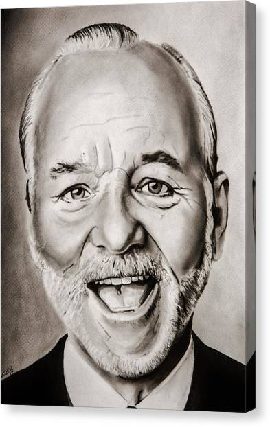 Groundhogs Canvas Print - Mr Bill Murray by Brian Broadway