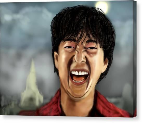 Mr. Chow Hangover Part 2 Canvas Print by Mathieu Lalonde