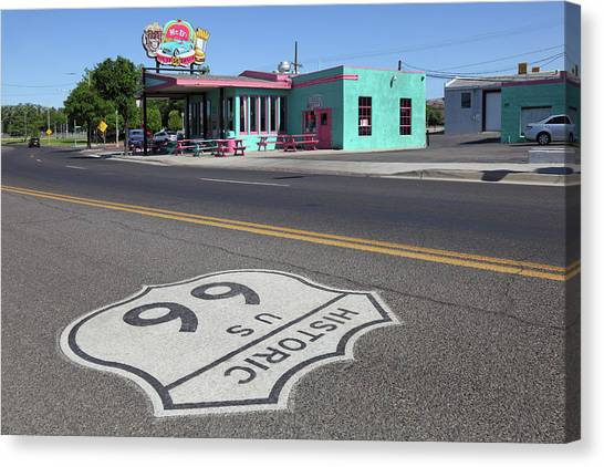 Mr. Ds Diner Route 66 Canvas Print