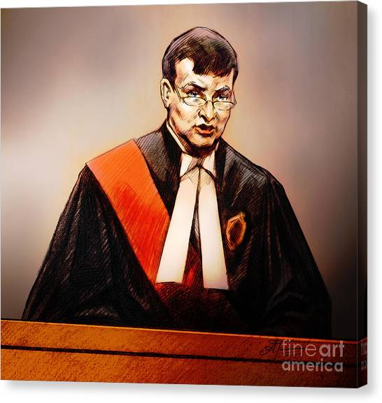 Mr. Justice Mcmahon - Judge Of The Ontario Superior Court Of Justice Canvas Print