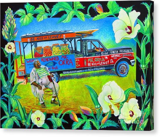 Ford Truck Canvas Print - Mr Okra by Pamela Iris Harden