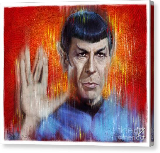 Spock Canvas Print - Mr Spock by Andre Koekemoer