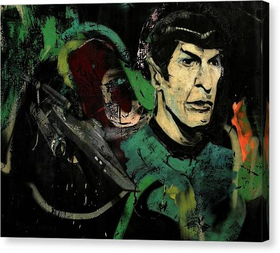 Spock Canvas Print - Mr Spock In Urban Mural by Chris Berry