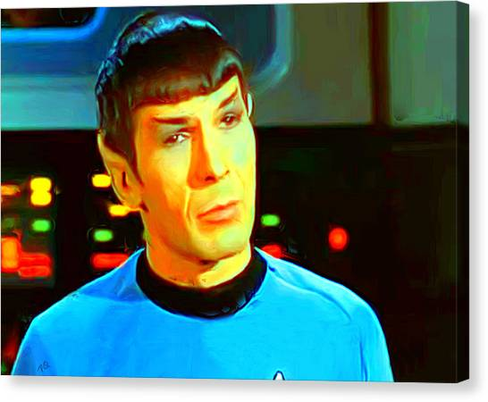 James T. Kirk Canvas Print - Mr Spock by Paul Quarry