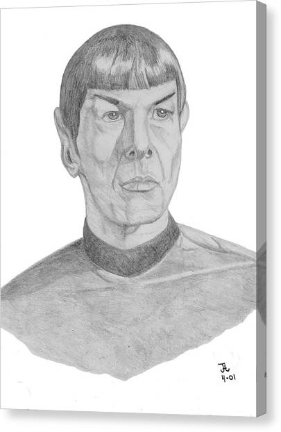 James T. Kirk Canvas Print - Mr. Spock by Thomas J Herring