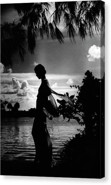 Mrs Allan A Ryan Jr At Palm Beach Canvas Print