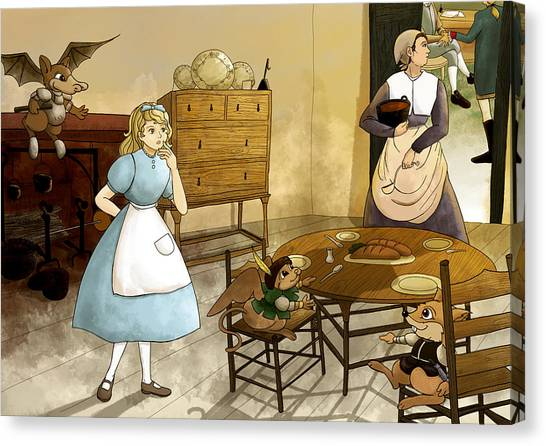 Mrs. Gage's Kitchen Canvas Print