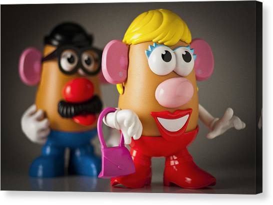Mrs. Potato Head Canvas Print