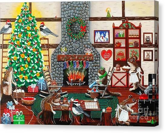 Ms. Elizabeth's Holiday Home Canvas Print