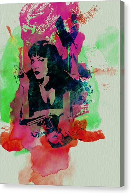 Pulp Fiction Canvas Print - Ms Wallace by Naxart Studio