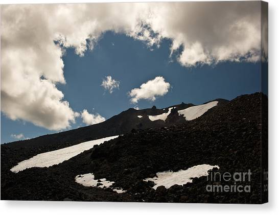 Mt. Bachelor Summit Canvas Print by Jackie Follett