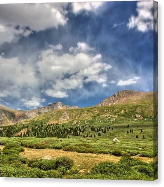 Rocky Mountains Canvas Print - Mt. Bierstadt by Jonathan Joslyn
