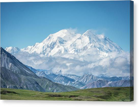 Denali Canvas Print - Mt. Denali - Alaska 20,310' by Jeffrey C. Sink