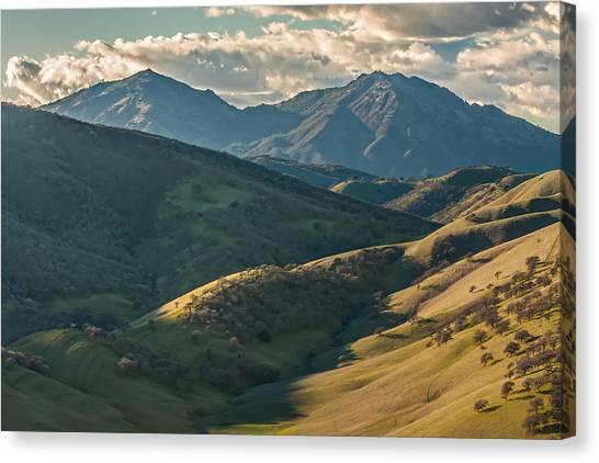 Mt Diablo And Afternoon Shadows Canvas Print