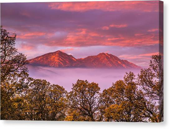 Contra Canvas Print - Mt Diablo In The Early Morning Light by Marc Crumpler