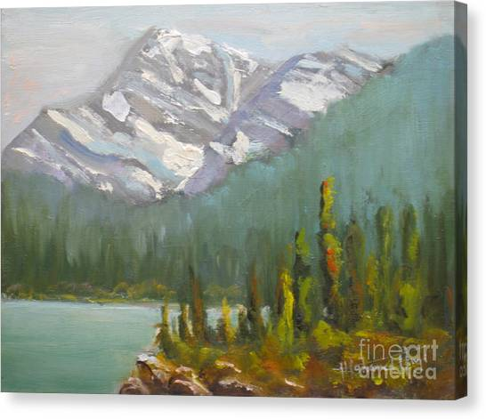 Canada Glacier Canvas Print - Mt. Edith Cavell by Mohamed Hirji