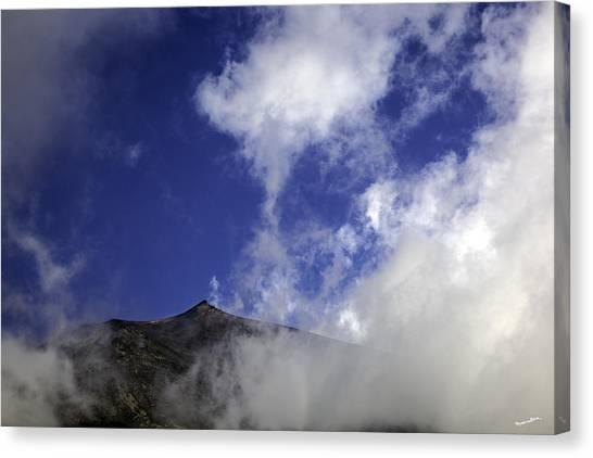 Mount Etna Canvas Print - Mt. Etna  by Madeline Ellis