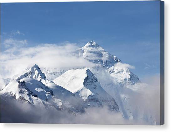 Mt Everest, From Mt Everest Base Camp Canvas Print