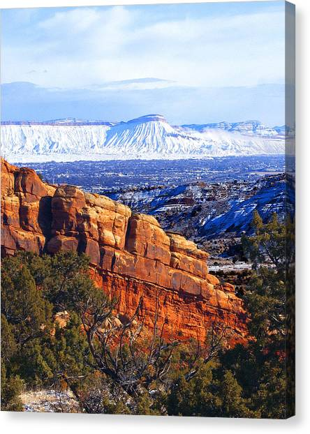 Mt. Garfield In The Distance Canvas Print