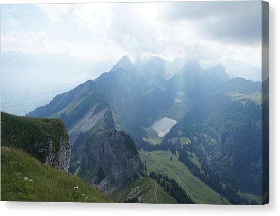 Mt. Hoher Kasten - Switzerland Canvas Print by Nikki  Wang