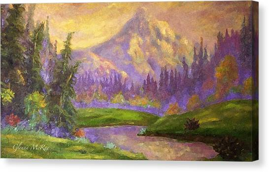 Mt. Hood At Dawn's Early Light Canvas Print