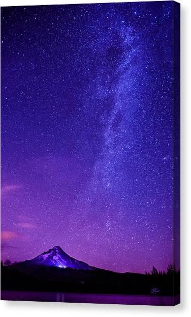 Mt. Hood Milky Way 01 Canvas Print