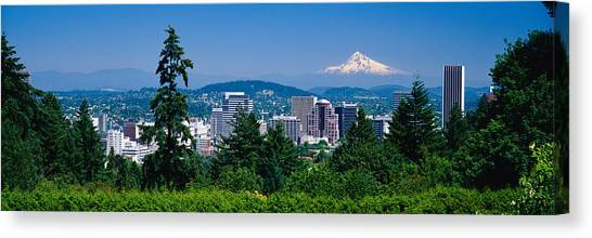 Mountain Ranges Canvas Print - Mt Hood Portland Oregon Usa by Panoramic Images