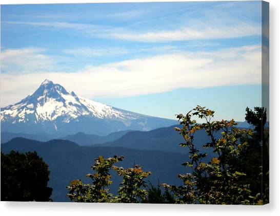 Mt. Hood View From Sherrard Point Canvas Print by Lizbeth Bostrom